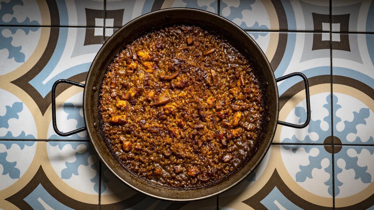 Can Boneta: els dijous, paella (de menú)