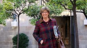 Irene Rigau a l'entrada de la reunió del Consell Executiu, el 3 de novembre.
