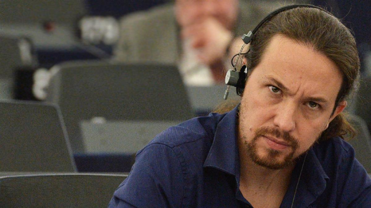 Pablo Iglesias dse despide del Parlamento Europeo.