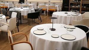 Mesas de un restaurante de Barcelona