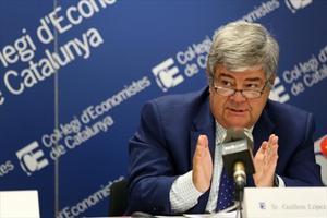Guillem López-Casasnovas en un debate en el Col·legi d'Economistes.