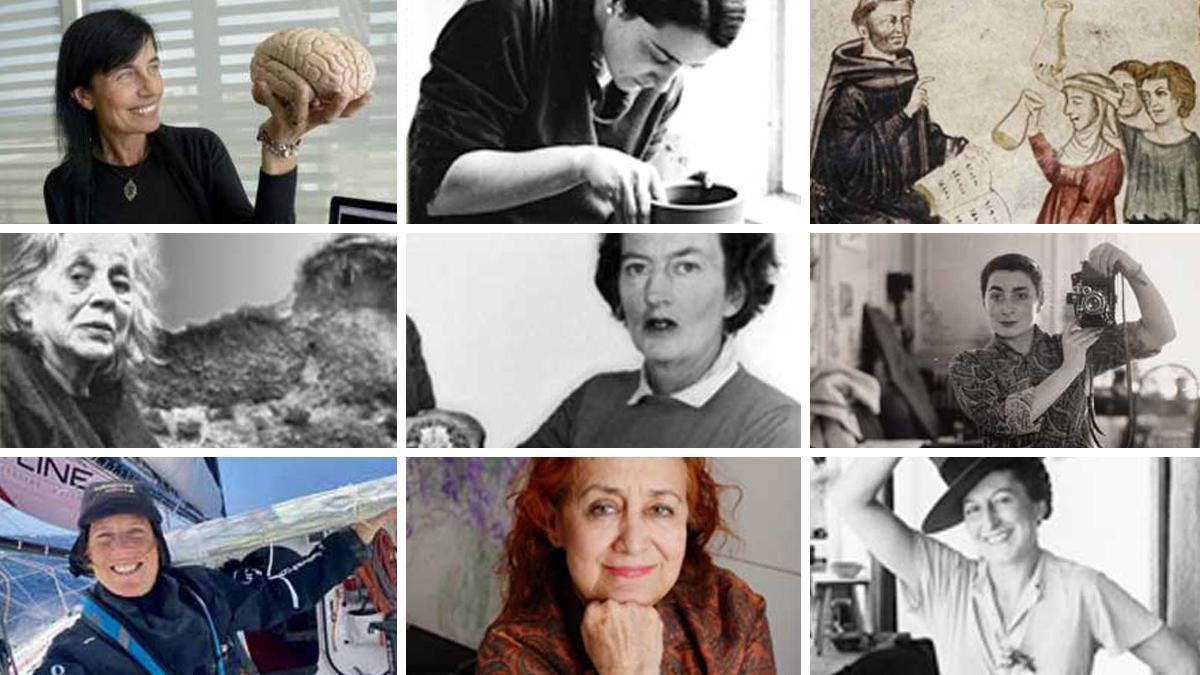 Mosaico con las mujeres representadas este año en 'Petites històries, grans dones'.