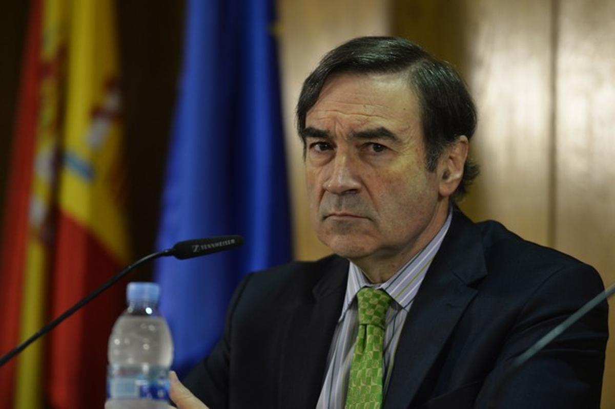 Pedro J. Ramírez, el pasado diciembre, en una rueda de prensa en Madrid.