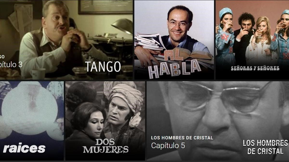 Algunos de los contenidos disponibles del archivo histórico de TVE.
