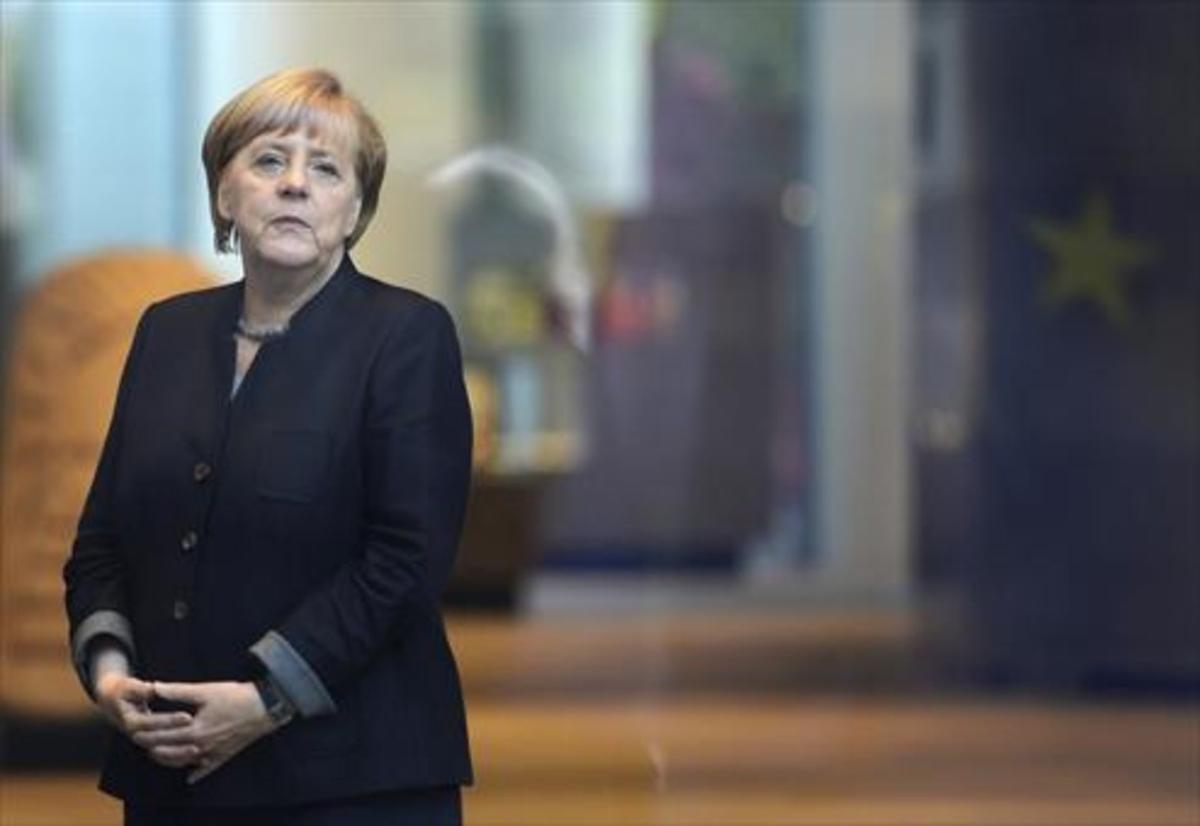 Angela Merkel, el pasado miércoles en la Cancillería de Berlín.