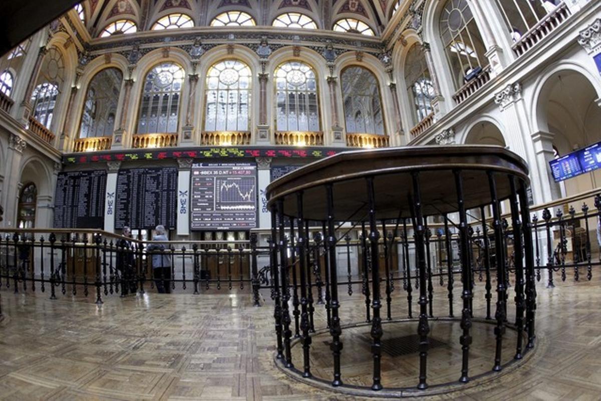 Imagen del interior de la Bolsa de Madrid.