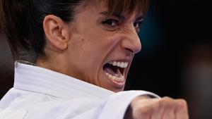 La karateka Sandra Sánchez.