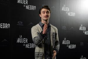 Daniel Radcliffe, en la presentación de 'La mujer de negro', en Madrid.