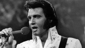 Elvis Presley, en un concierto en su plenitud.