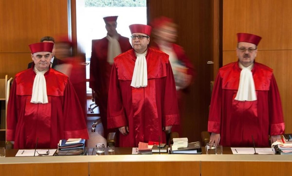 Tribunal alemán que debe pronunciarse sobre la ilegalización del Partido Nacionaldemócrata de Alemania (NPD).
