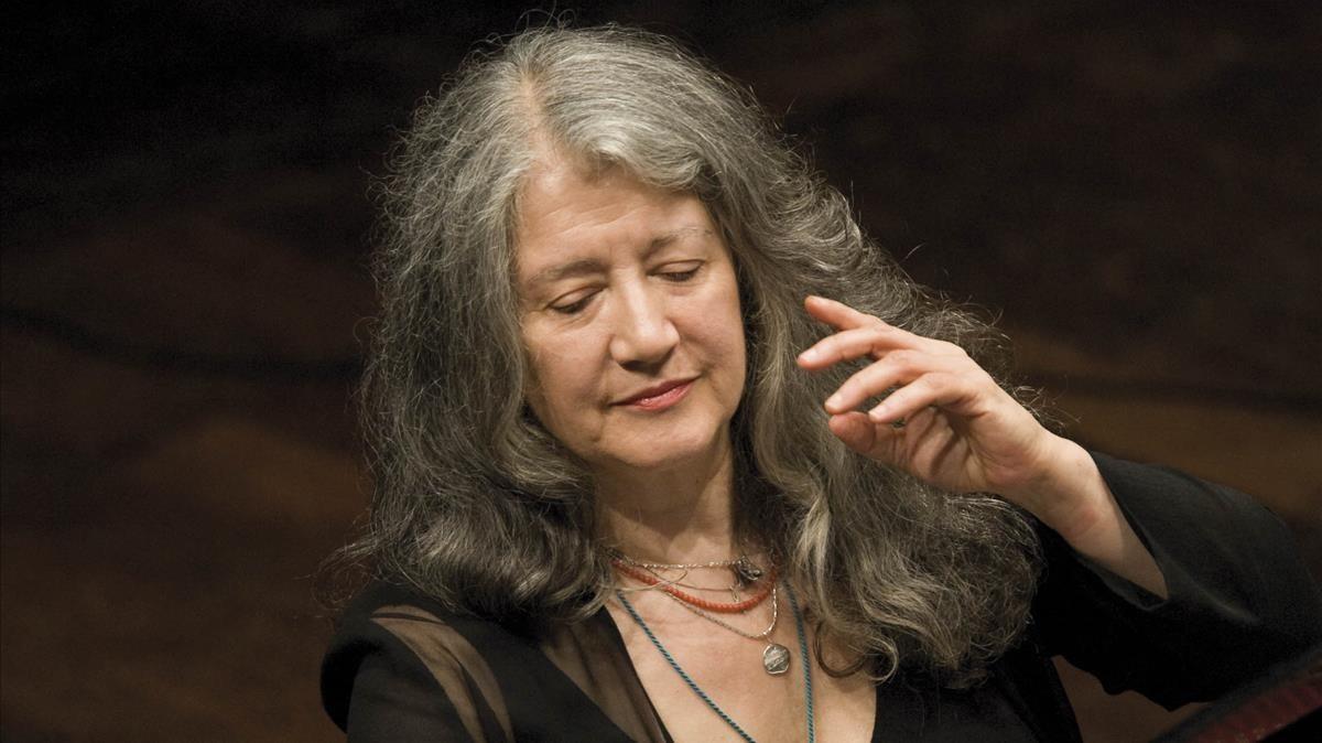 Martha Argerich, en el Palau de la Música.