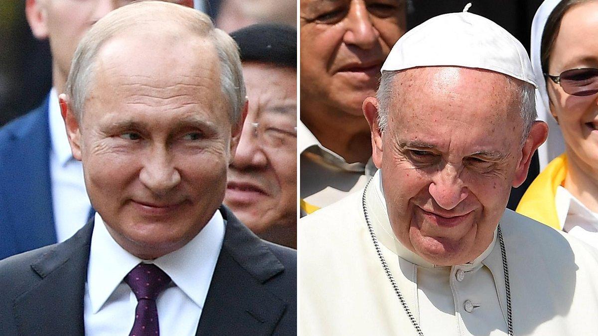 Putin y el papa Francisco.