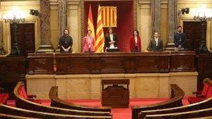 Mesa del Parlament recién constiuida