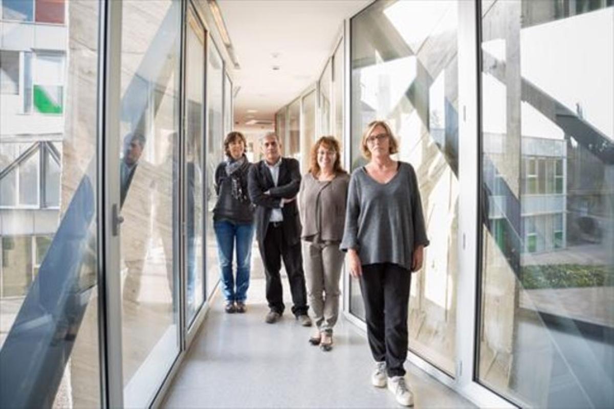 Laura Altet, Armand Sánchez, Montse Sala y Olga Francino.