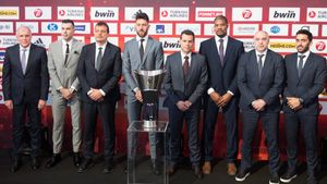Presentación de la final a cuatro de la Euroliga en Vitoria.