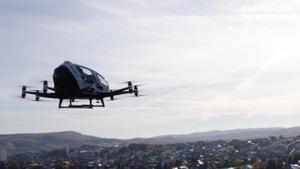 Drones con pasajeros de la empresa Ehang.
