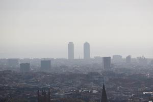 Contaminación en Barcelona el pasado 23 de octubre.