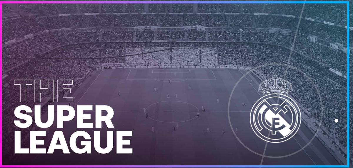 La portada de la web de la Superliga con el escudo del Madrid.