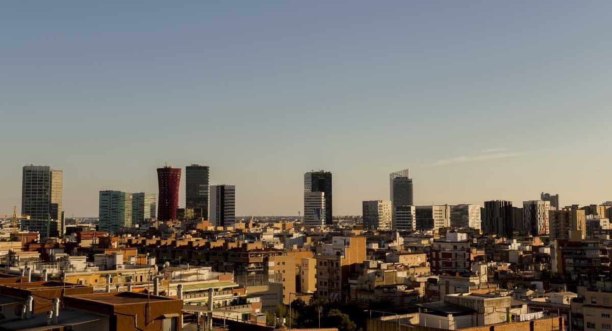Panorámica de 'L'Hospitalet de Llobregat.