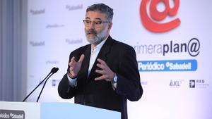 Carles Riera durante su intervención.