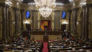 El hemiciclo del Parlament de Catalunya.