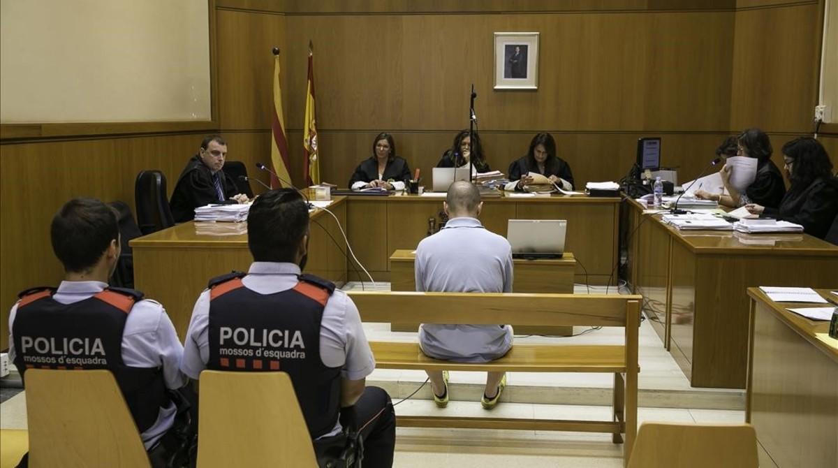 Terenci Gabernet, durante el juicio celebrado en julio en la Audiencia de Barcelona.