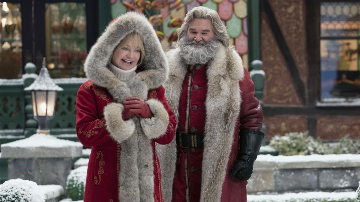 Goldie Hawn y Kurt Russell en una imágen de 'Crónicas de Navidad 2'.