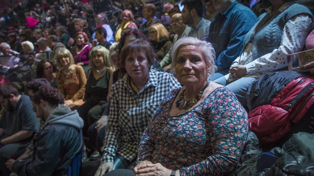 Rosita Ribalta, 'la jefa', más de 30 años de público figurante en programas de TV.
