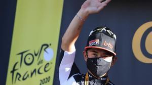 Caleb Ewan (Lotto) tras ganar la tercera etapa del Tour.