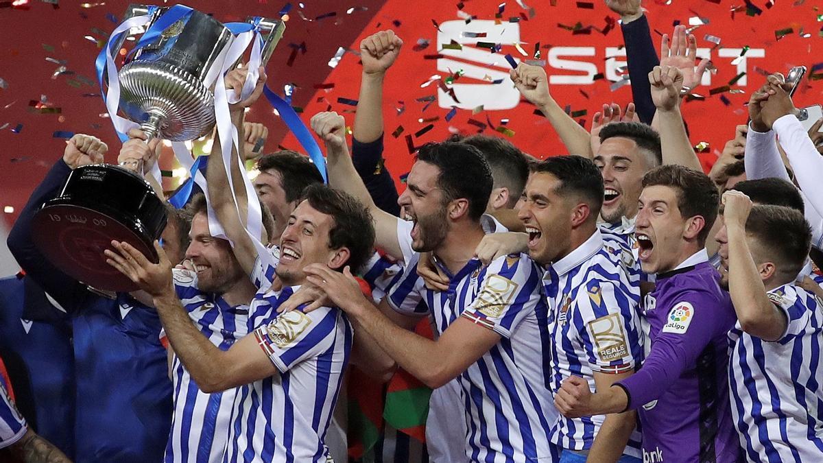 La Real Sociedad, campeona de la Copa del Rey.