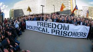 200alcaldes catalanes en bruselas contra el encarcelamiento de los políticos del Govern.