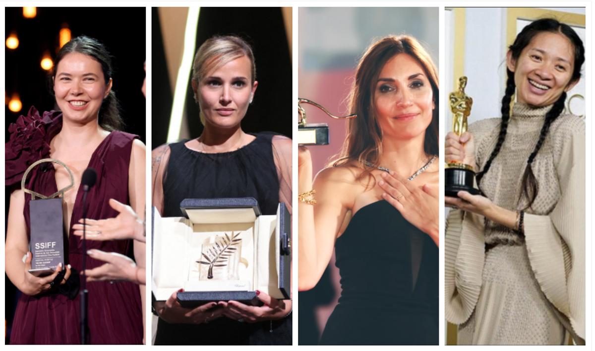 Las cineastas Alina Grigore, Julia Ducournau, Audrey Diwan y Chloé Zhao