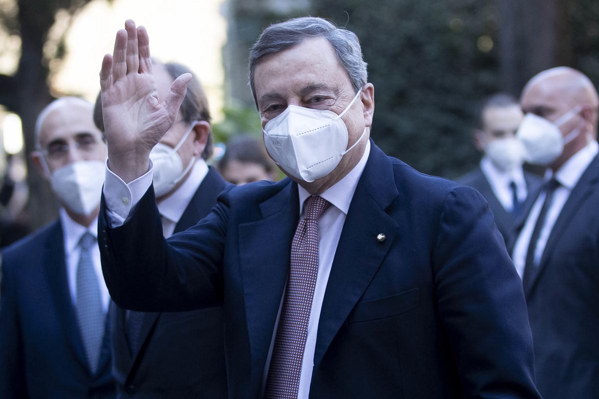 El primer ministro italiano, Mario Draghi, el pasado martes en Roma.