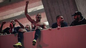 Neymar, en un partido en el Parque de los Príncipes.