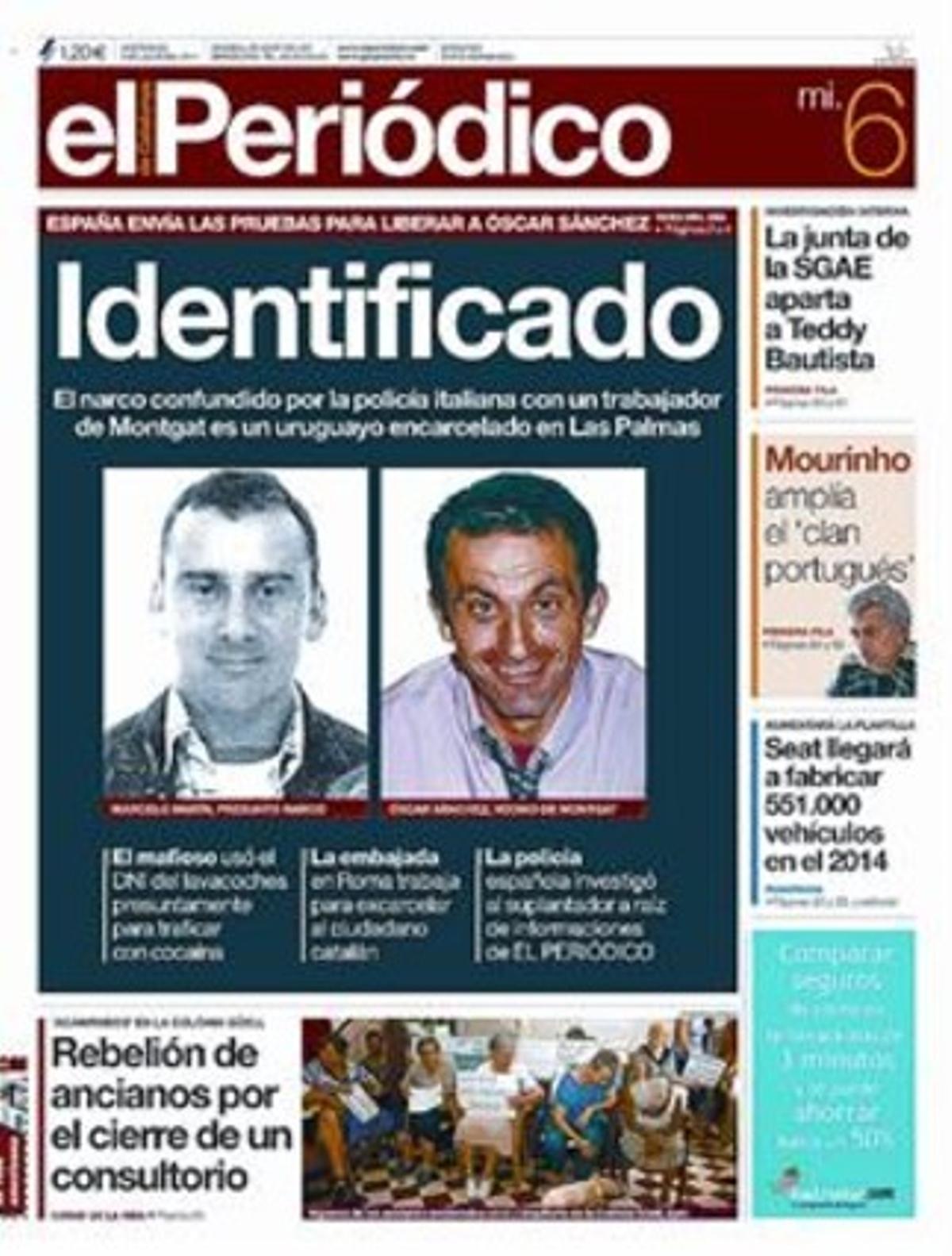 6-7-2011 3 EL PERIÓDICO identifica al usurpador.