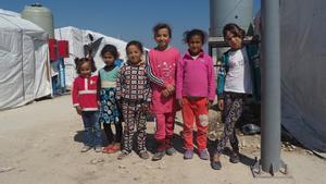 Unas niñas refugiadas sirias en el Líbano.