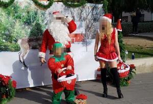 Imagen del evento navideño que CC.OO. ha tachado de sexista.