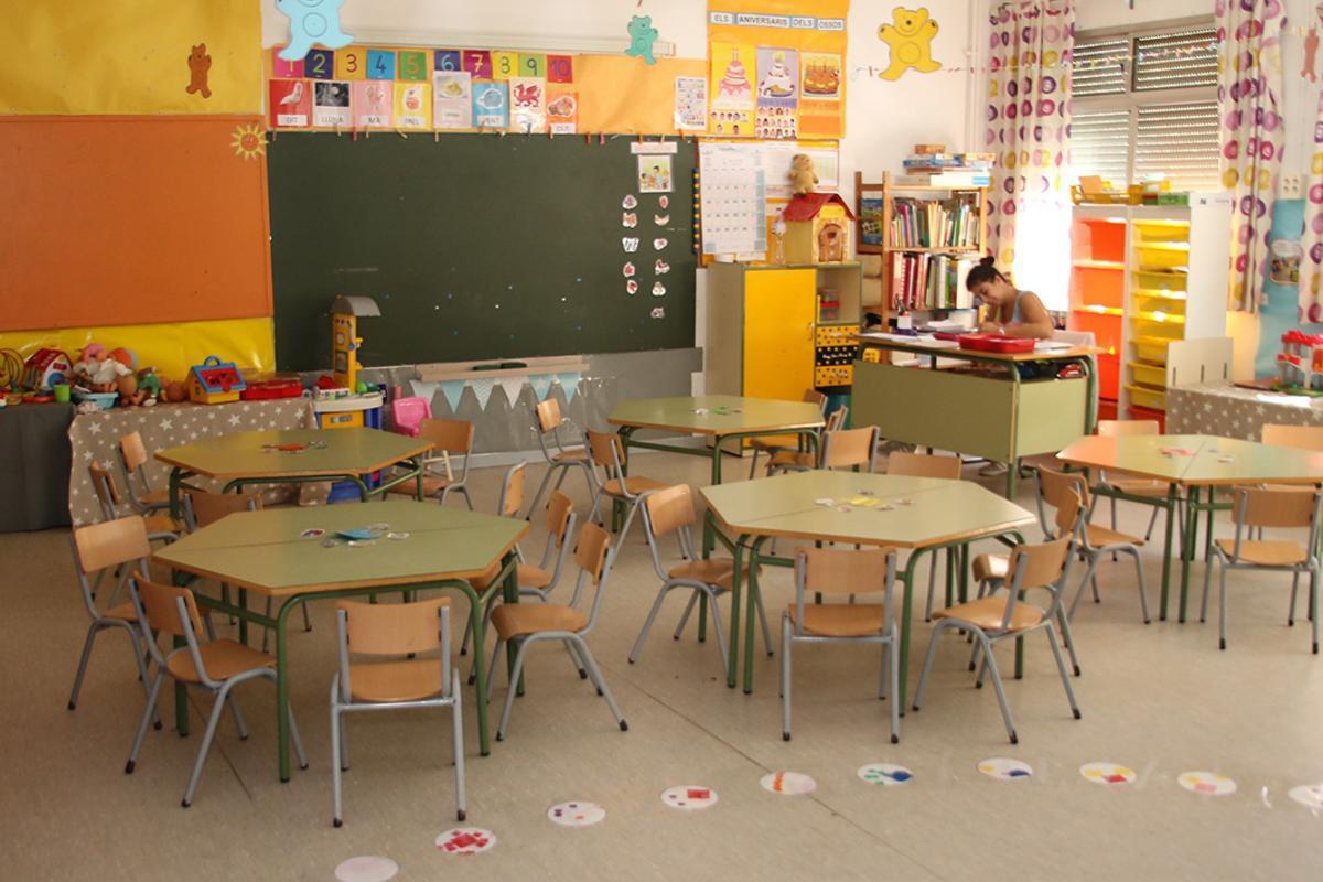 Aula de una escuela de Sant Boi