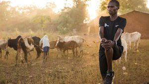 Joshua Cheptegei, en el distrito de Kapchorwa, en Uganda.