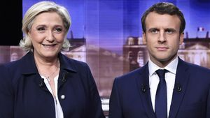 Marine Le Pen y Emmanuel Macron.
