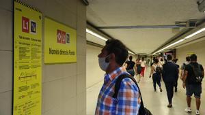 Obras en la L1 del metro entre Santa Eulàlia y Hospital de Bellvitge.