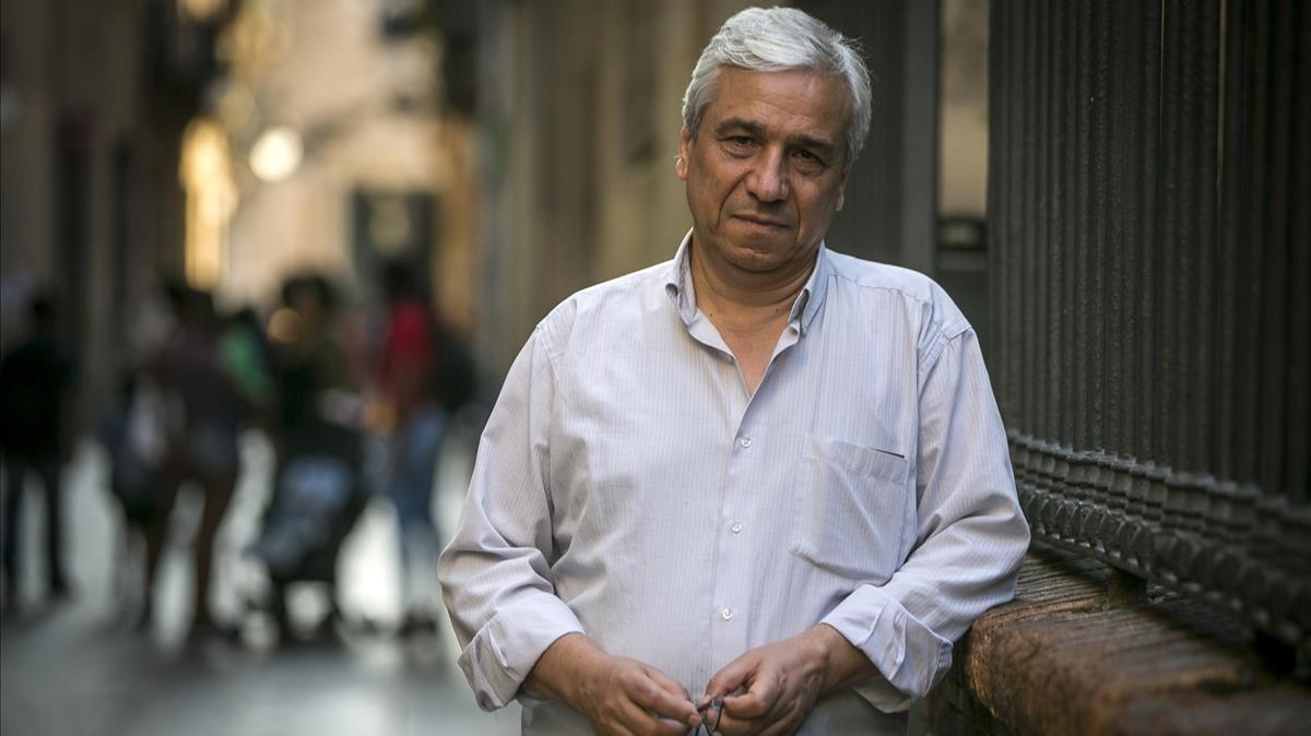 Yasin al Haj Saleh, durante su visita a Barcelona.
