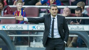 Valverde, durante el partido con el Alavés.