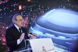 El presidente del Real Madrid Florentino Pérez.