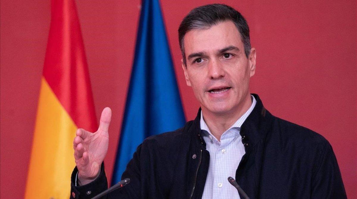 El presidente del Gobierno y líder del PSOE, Pedro Sánchez, en el acto 'La España que merecemos: 2021-2026'