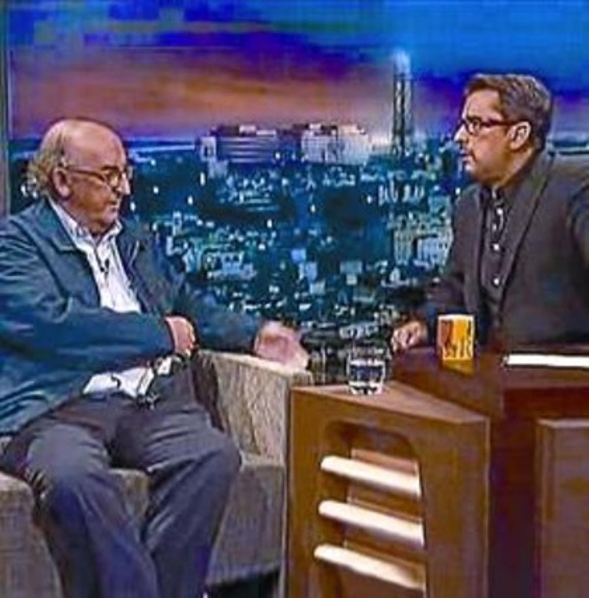 Jaume Roures (izquierda) es entrevistado por Andreu Buenafuente en el espacio de La Sexta 'Buenafuente', emitido el pasado 6 de septiembre.