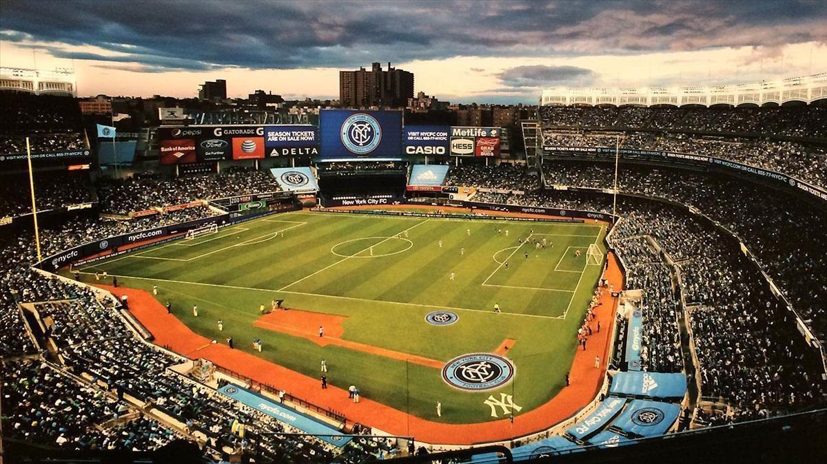 Un partido en el Yankee Stadium de Nueva York.
