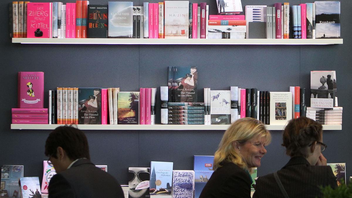Un estand en la Feria del Libro de Fráncfort, en una imagen de archivo.