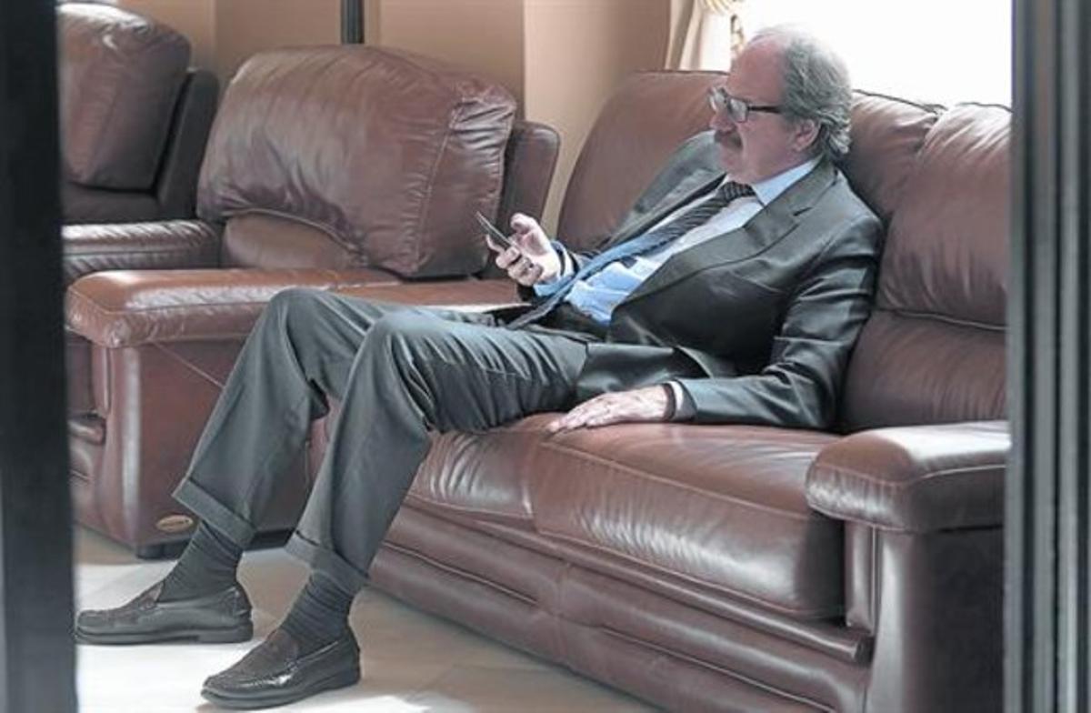 El diputado Xavier Crespo, el pasado mes de mayo, en el Parlament.