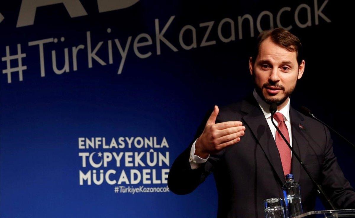 El ministro de Finanzas turco y yerno de Erdogan, Berat Albayrak.